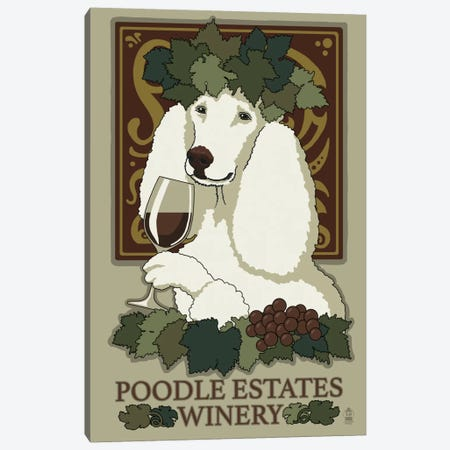 Poodle Estates Winery Canvas Print #LAN48} by Lantern Press Art Print