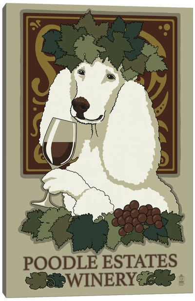 Poodle Estates Winery Canvas Print #LAN48