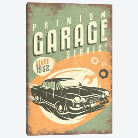 Premium Garage Service Sign Canvas Print #LAN49} by Lantern Press Canvas Art Print