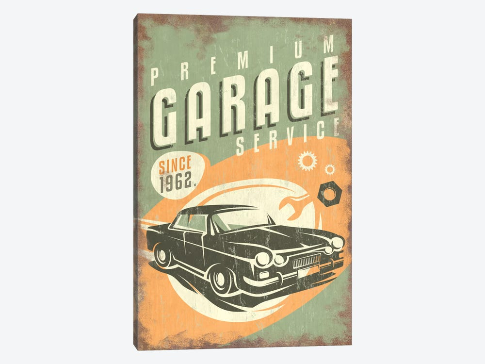 Premium Garage Service Sign by Lantern Press 1-piece Canvas Wall Art
