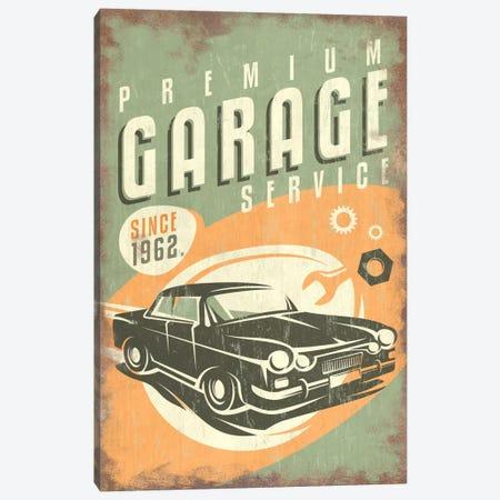 Premium Garage Service Sign Canvas Print #LAN49} by Lantern Press Canvas Art Print