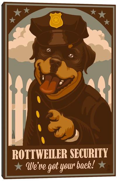 Rottweiler Security Canvas Art Print