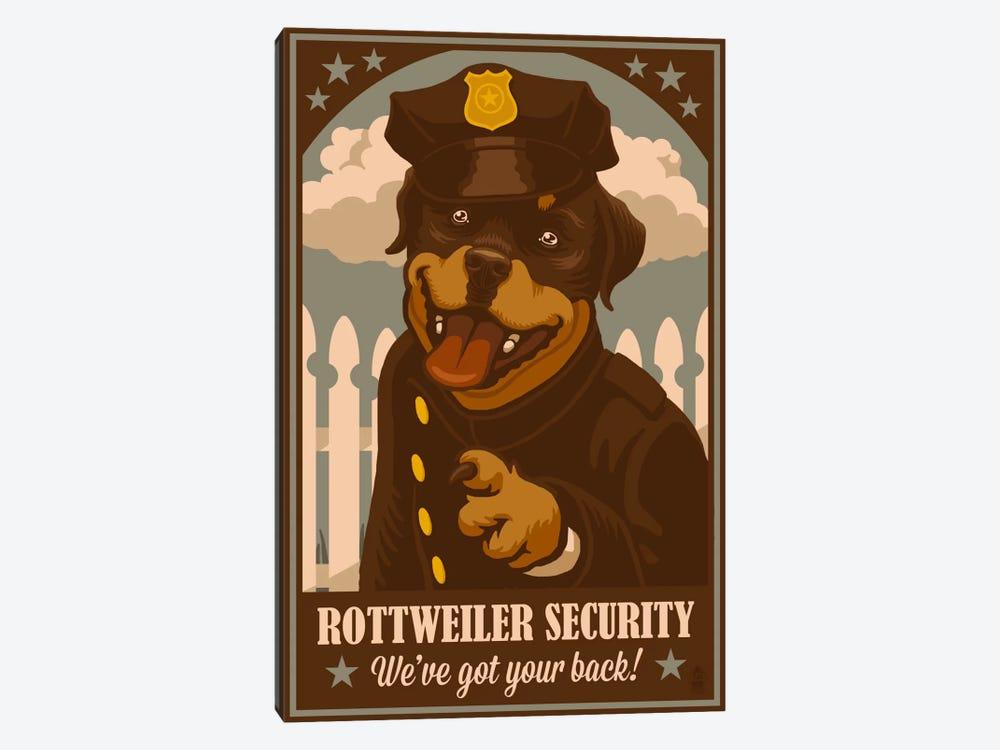 Rottweiler Security by Lantern Press 1-piece Canvas Print