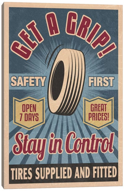 Safety First Tires Canvas Art Print