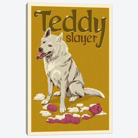 Teddy Slayer Canvas Print #LAN56} by Lantern Press Art Print
