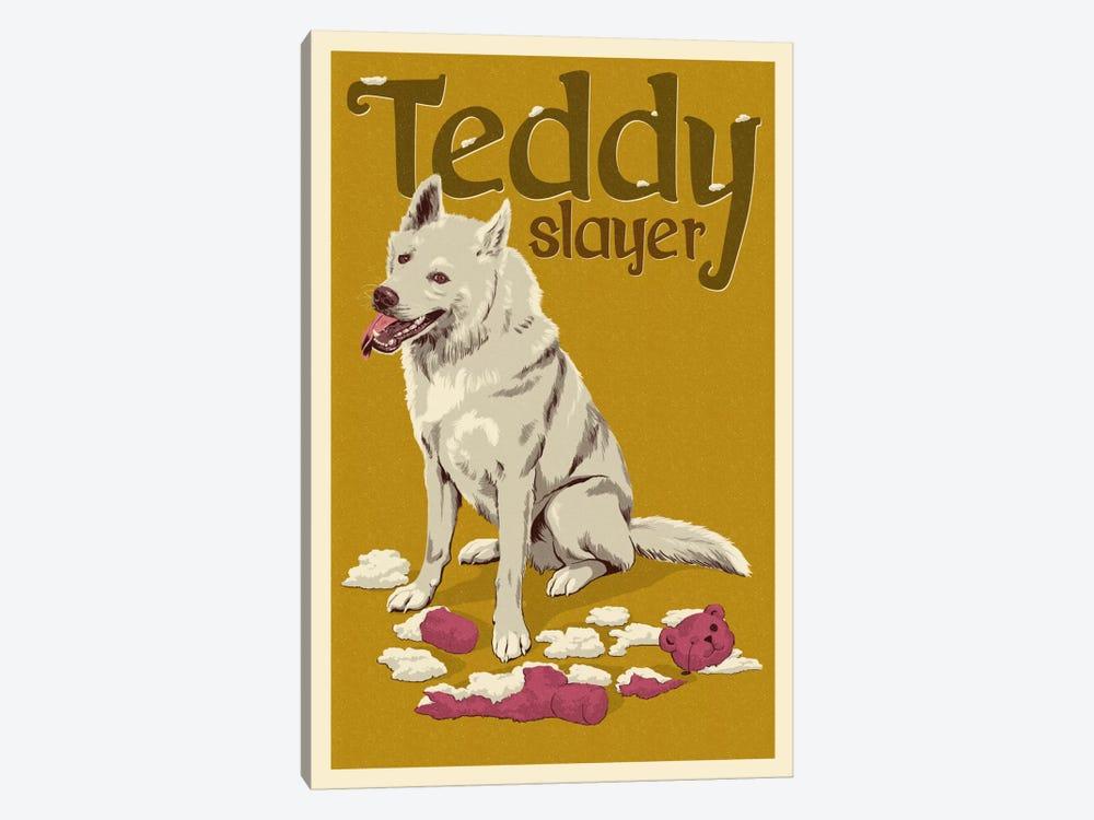 Teddy Slayer by Lantern Press 1-piece Canvas Wall Art