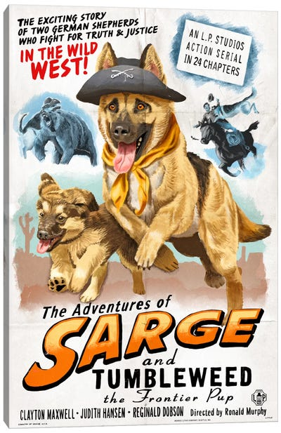 The Adventures Of Sarge And Tumbleweed The Frontier Pup Film Poster Canvas Art Print