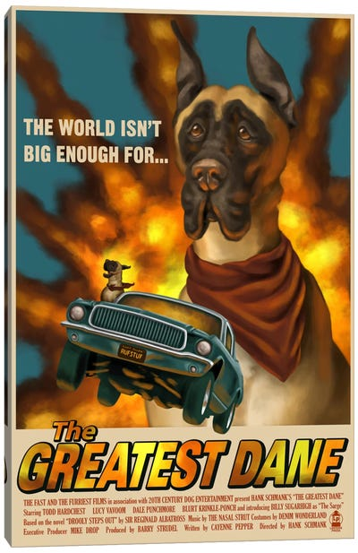 The Greatest Dane Film Poster Canvas Art Print