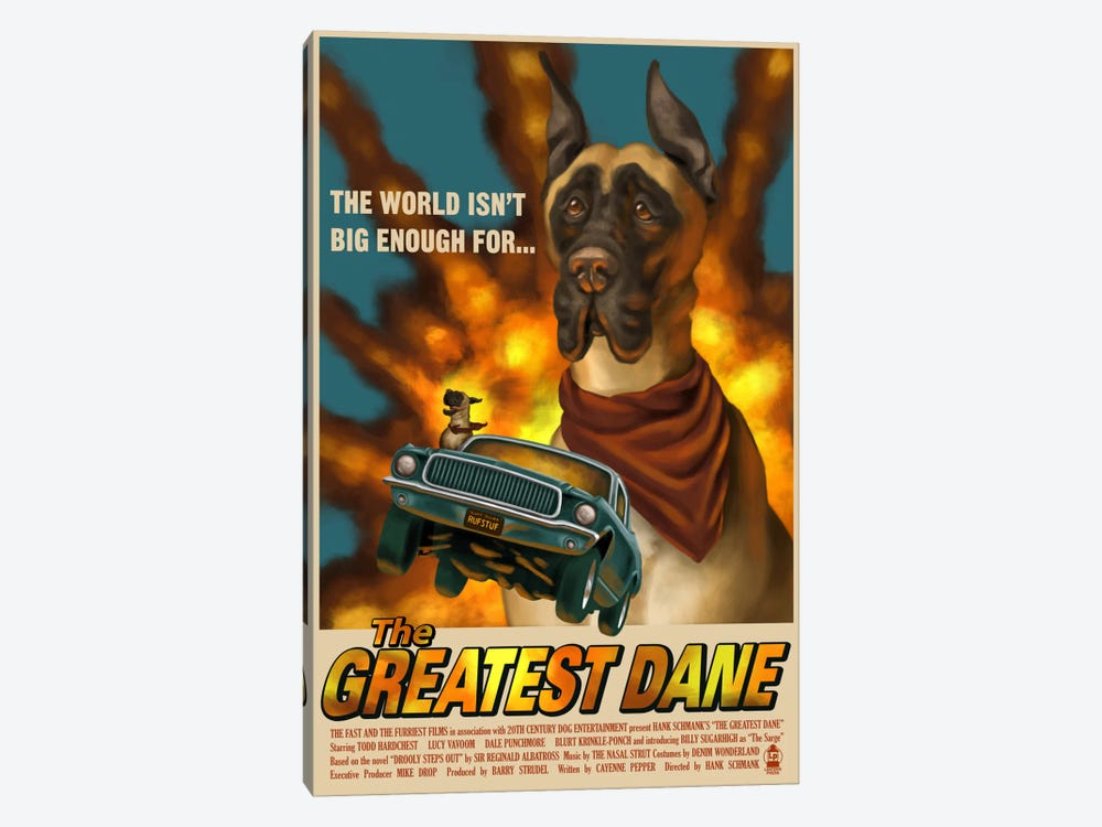 The Greatest Dane Film Poster by Lantern Press 1-piece Canvas Art