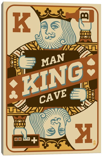 The King's Man Cave Canvas Print #LAN59