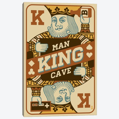 The King's Man Cave Canvas Print #LAN59} by Lantern Press Canvas Artwork
