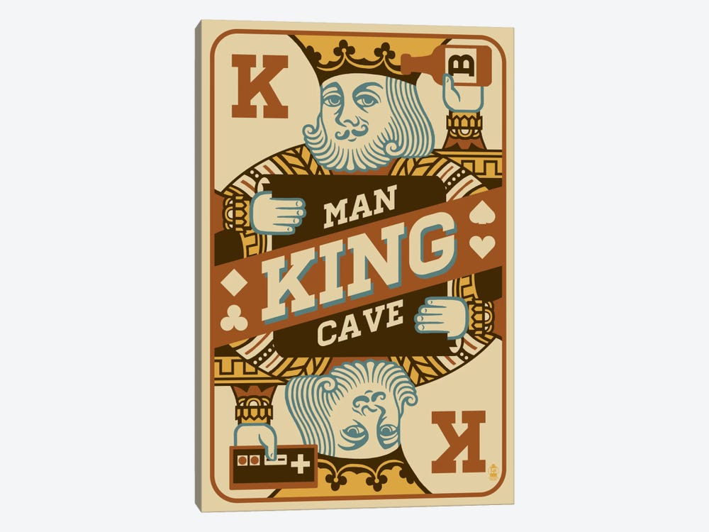 The King's Man Cave by Lantern Press 1-piece Art Print