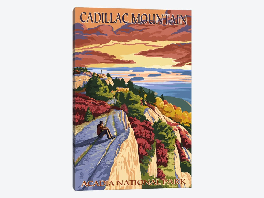 Acadia National Park (Cadillac Mountain) by Lantern Press 1-piece Canvas Artwork