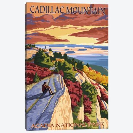 Acadia National Park (Cadillac Mountain) Canvas Print #LAN61} by Lantern Press Canvas Art Print