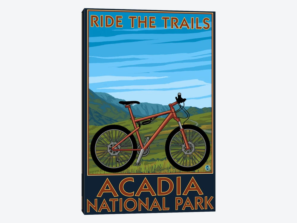 Acadia National Park (Ride The Trails) by Lantern Press 1-piece Canvas Art Print