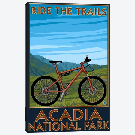 Acadia National Park (Ride The Trails) Canvas Print #LAN62} by Lantern Press Canvas Print