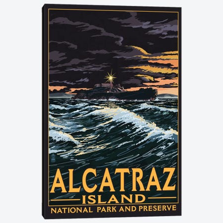 Alcatraz Island National Recreation Area Canvas Print #LAN64} by Lantern Press Canvas Art