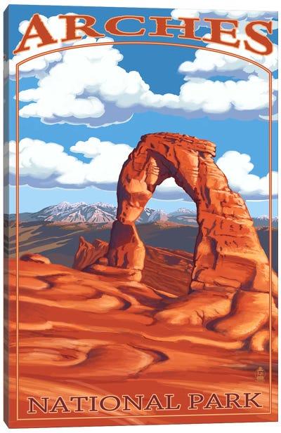 U.S. National Park Service Series: Arches National Park (Delicate Arch) Canvas Print #LAN65