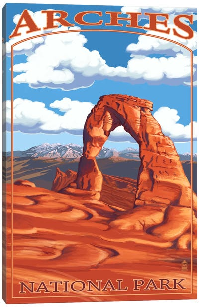 Arches National Park (Delicate Arch) by Lantern Press Canvas Art Print