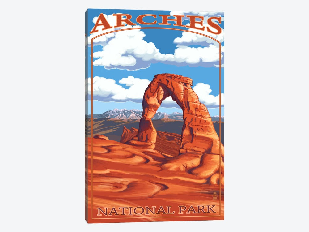 Arches National Park (Delicate Arch) by Lantern Press 1-piece Canvas Wall Art