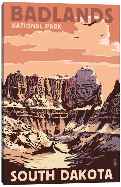U.S. National Park Service Series: Badlands National Park (Castle Rock) Canvas Print #LAN68