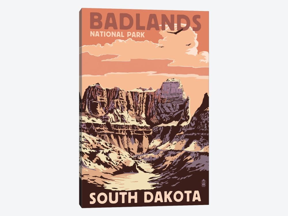 Badlands National Park (Castle Rock) by Lantern Press 1-piece Art Print