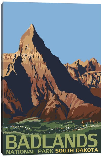 U.S. National Park Service Series: Badlands National Park (Geologic Formation) Canvas Print #LAN69