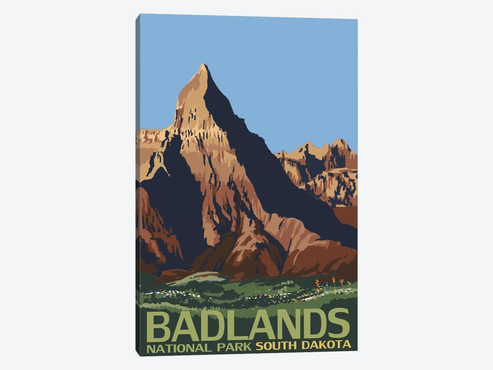 Badlands National Park (Geologic Formation) by Lantern Press 1-piece Canvas Art