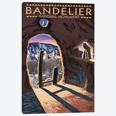 Bandelier National Monument (Twilight View) Canvas Print #LAN71} by Lantern Press Canvas Art