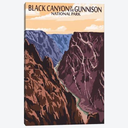 Black Canyon Of The Gunnison National Park (Gunnison River) Canvas Print #LAN72} by Lantern Press Canvas Wall Art