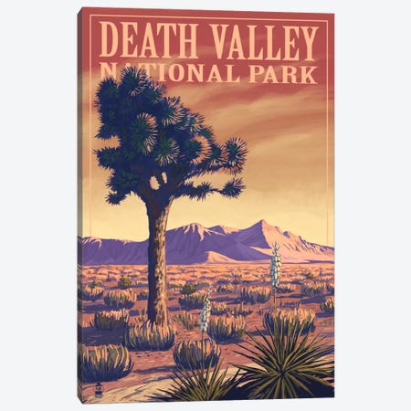 Death Valley National Park (Joshua Tree) Canvas Print #LAN77} by Lantern Press Art Print