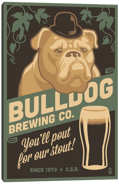 Bulldog Brewing Co. Canvas Art Print