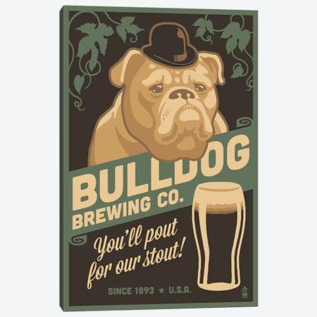 Bulldog Brewing Co. Canvas Print #LAN7} by Lantern Press Canvas Print