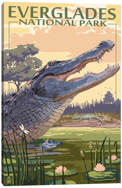 U.S. National Park Service Series: Everglades National Park (Alligators) Canvas Print #LAN80