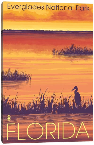 U.S. National Park Service Series: Everglades National Park (Tropical Wilderness Sunset) Canvas Print #LAN81