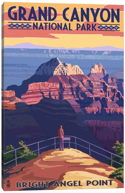 Grand Canyon National Park (Bright Angel Point) Canvas Art Print