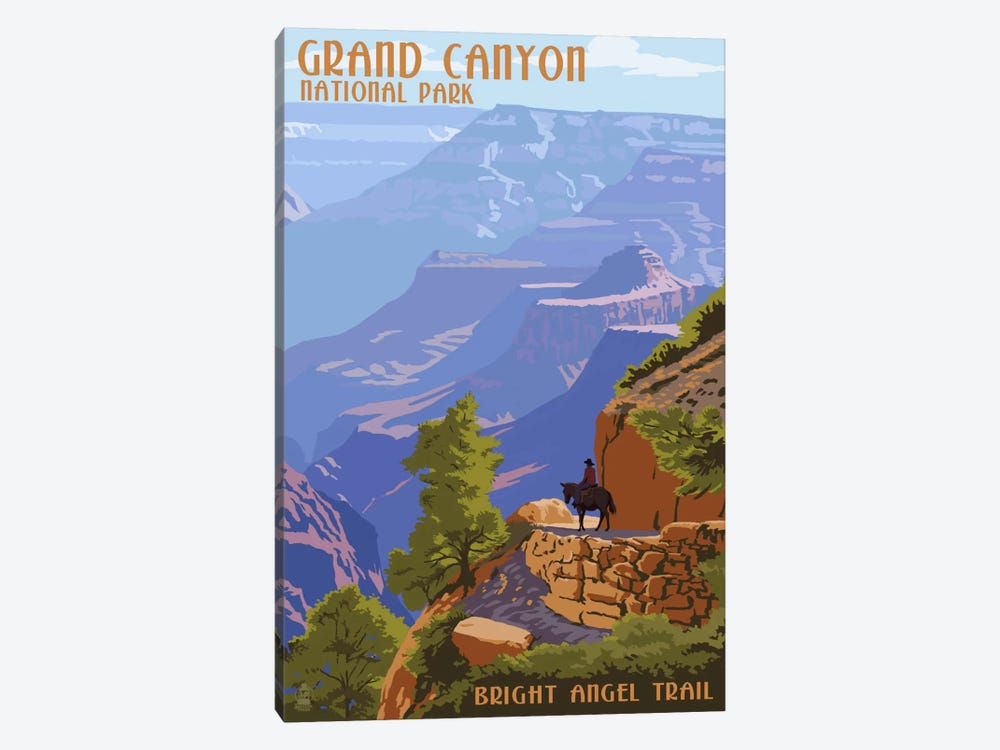 Grand Canyon National Park (Bright Angel Trail) by Lantern Press 1-piece Canvas Art Print