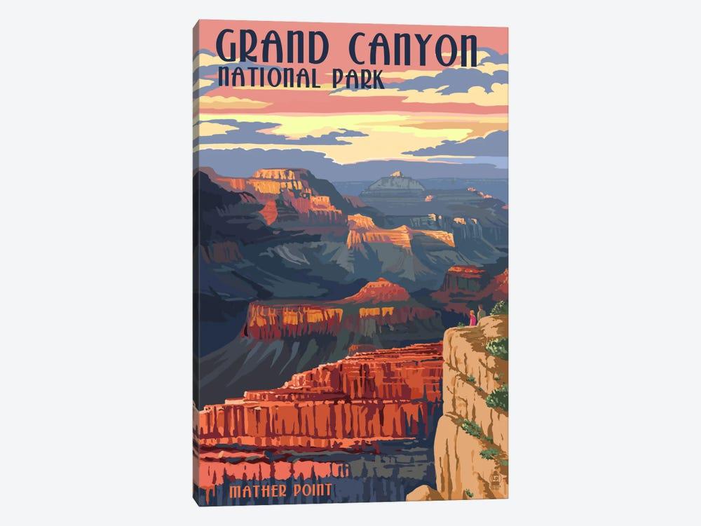 Grand Canyon National Park (Mather Point) by Lantern Press 1-piece Art Print