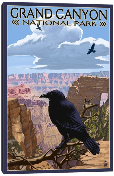 Grand Canyon National Park (Ravens Near Angels Window) Canvas Art Print