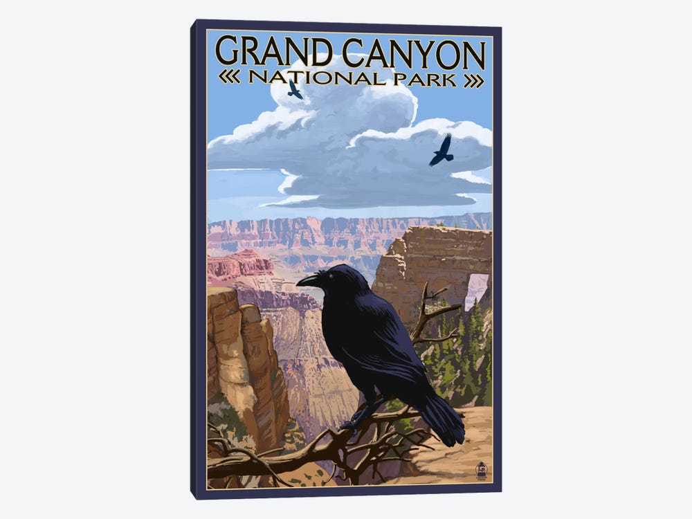 Grand Canyon National Park (Ravens Near Angels Window) by Lantern Press 1-piece Canvas Art