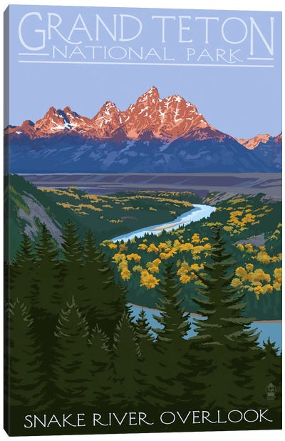 U.S. National Park Service Series: Grand Teton National Park (Snake River Overlook) Canvas Print #LAN92