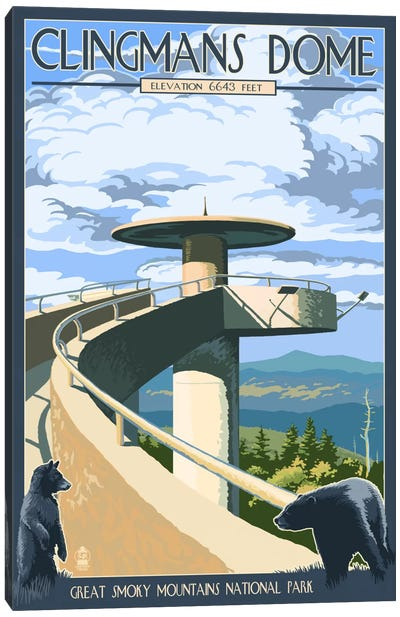 U.S. National Park Service Series: Great Smoky Mountains National Park (Clingmans Dome Observation Tower I) Canvas Art Print
