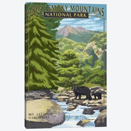 Great Smoky Mountains National Park (Mount Le Conte) Canvas Print #LAN97} by Lantern Press Canvas Art Print