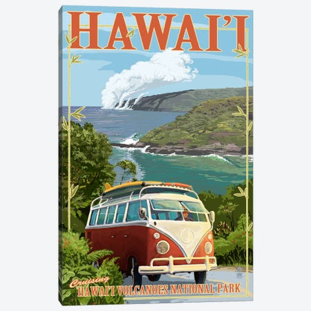 Hawai'i Volcanoes National Park (VW Type 2) Canvas Print #LAN99} by Lantern Press Canvas Art