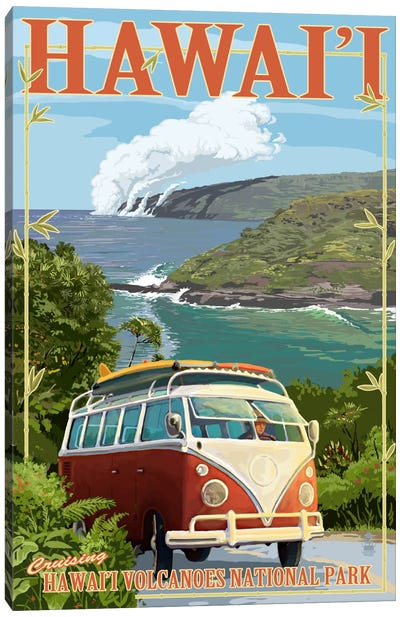 Hawai'i Volcanoes National Park (VW Type 2) by Lantern Press Canvas Art Print