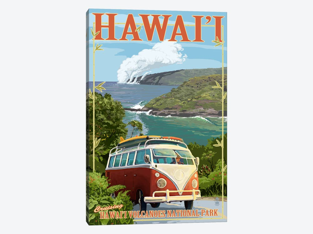 Hawai'i Volcanoes National Park (VW Type 2) by Lantern Press 1-piece Art Print