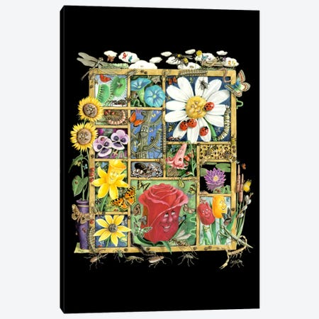 Bugs And Blossoms Canvas Print #LAU207} by Laura Seeley Canvas Artwork
