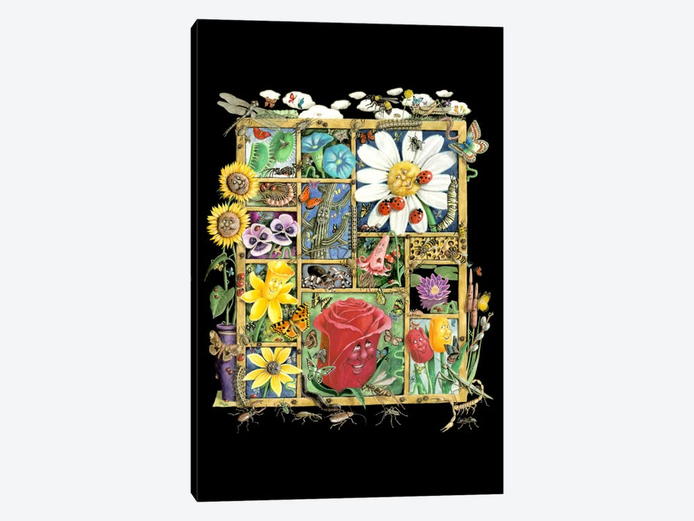 Bugs And Blossoms by Laura Seeley 1-piece Canvas Wall Art