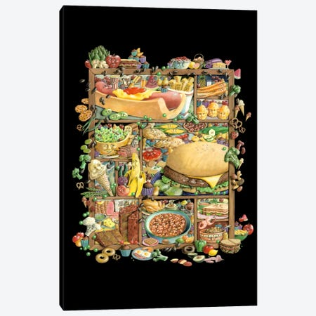 Food for Thougt 3-Piece Canvas #LAU210} by Laura Seeley Canvas Art