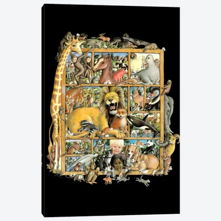 Mammal Menagerie Canvas Print #LAU211} by Laura Seeley Canvas Art